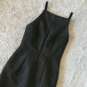 H&M Fuzzy Shimmer Midi Dress Cocktail Holiday